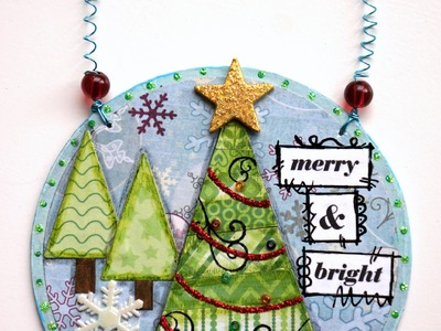 Christmas Tree Ornament made with scraps