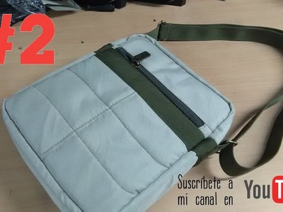 COMO CONFECCIONAR UN MORRAL O BANDOLERA  PARTE 2 how to make  a backpack or shoulder bag 2
