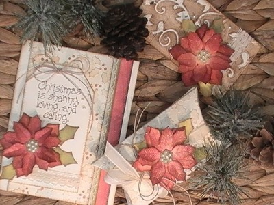 Countdown to Christmas Series. 2017. Vintage Card - Pillow Box - Tag. C&CT