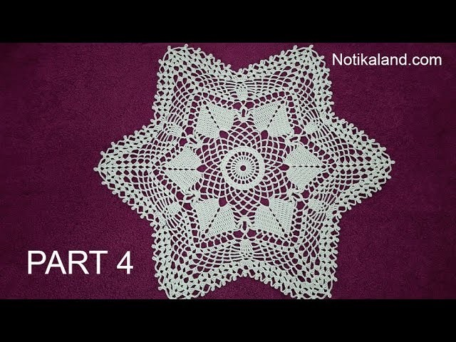 CROCHET How to crochet  lace doily tutorial Part 4, 15  - 16 round