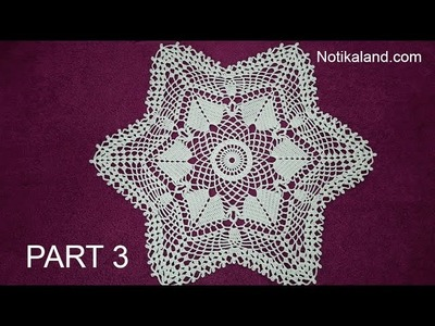 CROCHET How to crochet  lace doily tutorial Part 3, 10  - 14 round