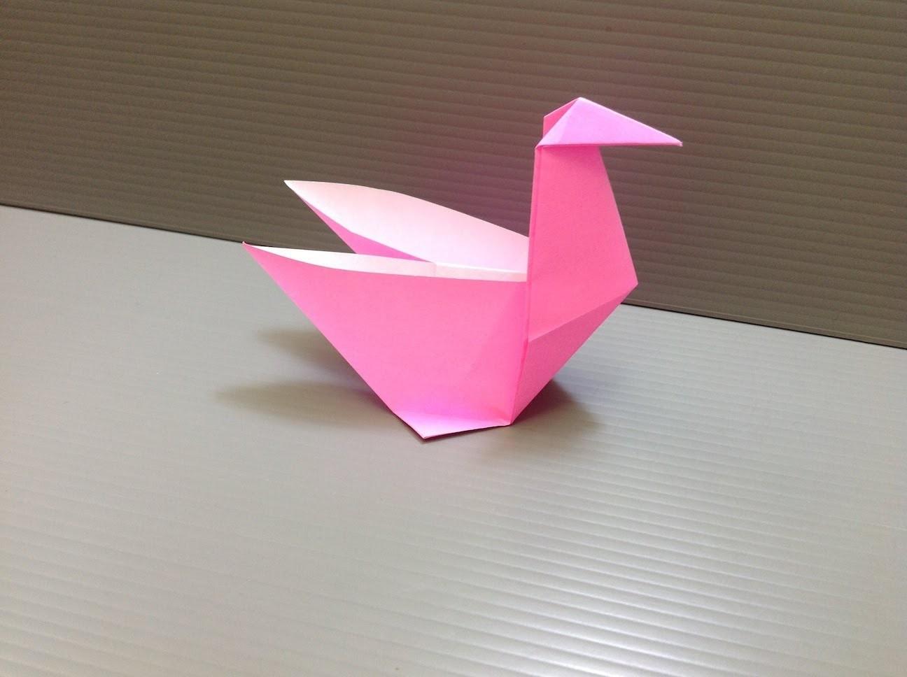 origami swan folding instructions