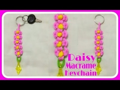Daisy  Flower Key Chain with Easy Tutorial