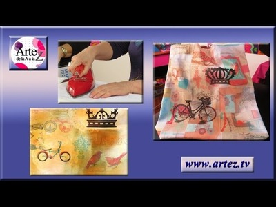 Decorar un bolso con collage sublimado