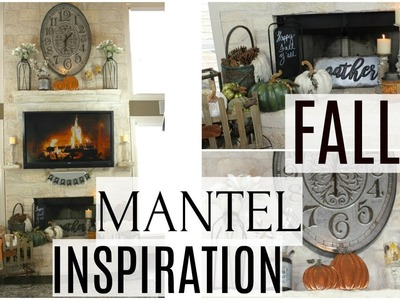 DECORATE WITH ME | MANTEL | FIREPLACE FOR FALL