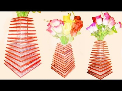 DIY Art and Craft || Room Decore || Showpiece || Flower vase making at home
