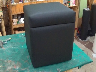 DIY: HOW TO UPHOLSTER A STORAGE OTTOMAN - ALO Upholstery