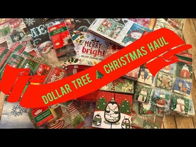 Dollar Tree Christmas Haul | Crafts, decor, gift packaging, cards, and more!