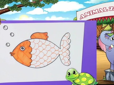 Drawing for kids - How to draw fish