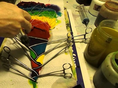 DYEING A STAR OR FLOWER USING HEMOSTATS PART 2 TIE DYE