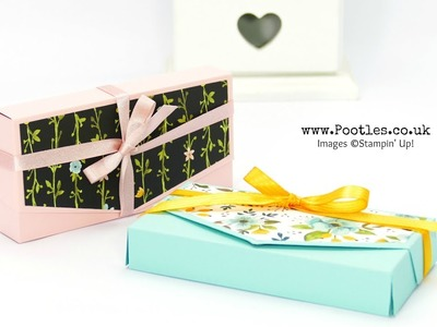 Easy No Glue Clutch Bag Tutorial with Stampin' Up! Whole Lot of Lovely