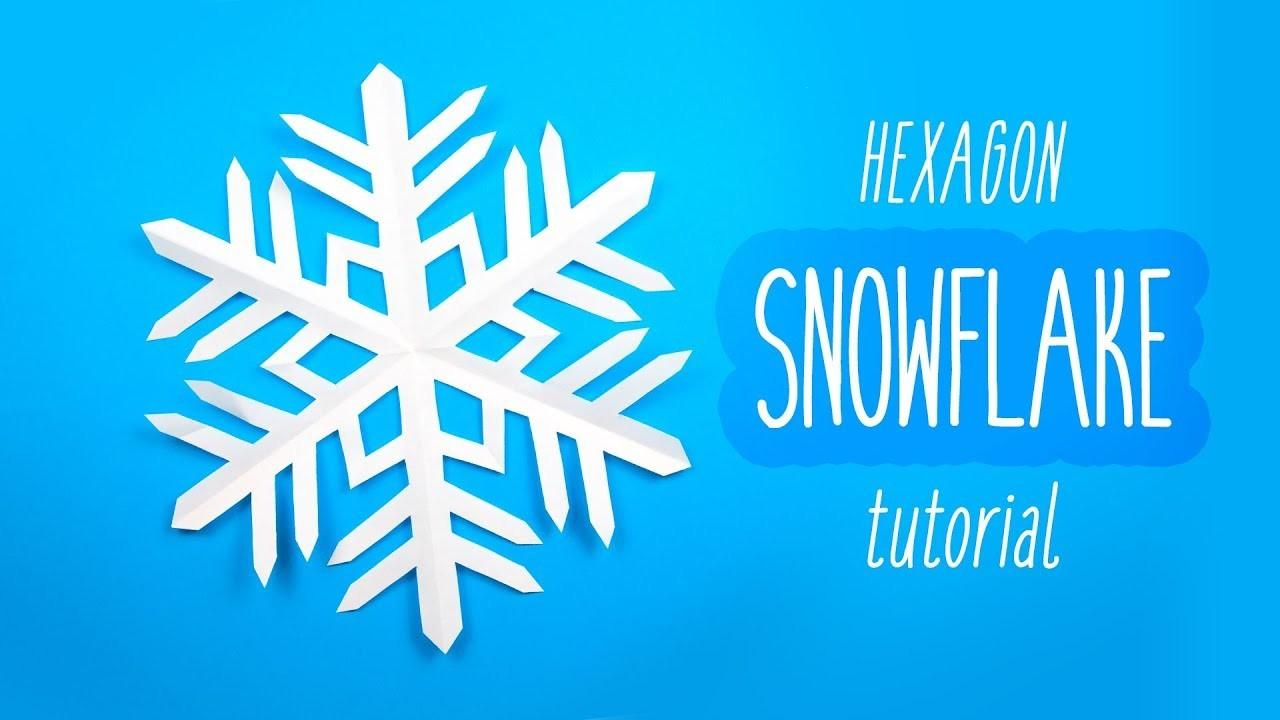 Easy Snowflake (6 Pointed) ❄️ Christmas DIY ❄️ Paper Kawaii