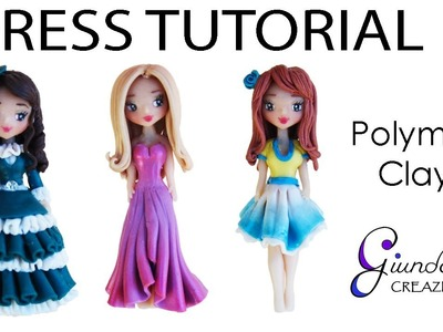 [ENG] How to make a dress with clay - Polymer clay drapes for dolls