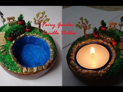 Fairy Garden Inspired Tea Candle Holder