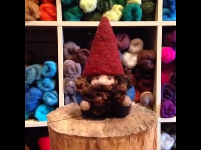 Felted gnome stop motion