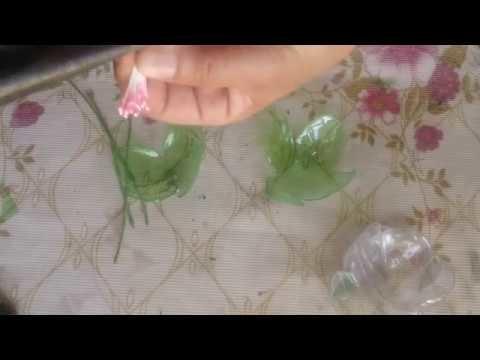 Flor de pet transparentes