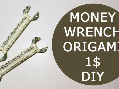 GIFT FOR MEN Money Wrench Origami Dollar Tutorial DIY Folded No glue