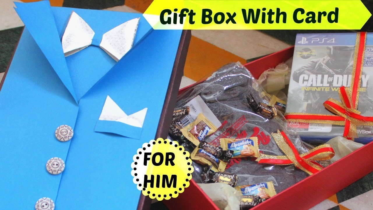 Gift Packing Ideas For Rakhi & Friendship Day   Gift Box With Card   For Brother Friend