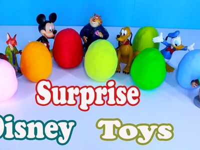 Gum Clay Surprise Eggs Disney Toys Zootopia Lalaloopsy Barbie. Video for Kids