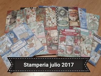 Haul Stamperia - Nuevos papeles de Scrap Julio 2017