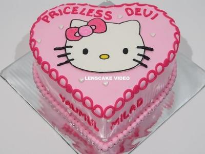HELLO KITTY CAKE LOVE ! HOW TO MAKE BIRTHDAY CAKE