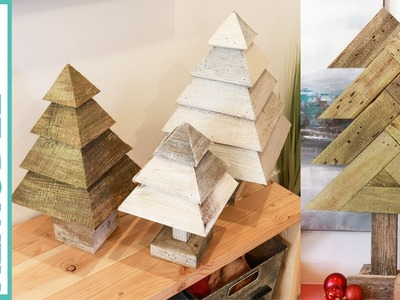 How to Build Reclaimed Wood Christmas Trees, 2 Different Ways