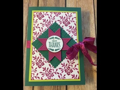 How to Create a Card Gift Set Christmas Quilt