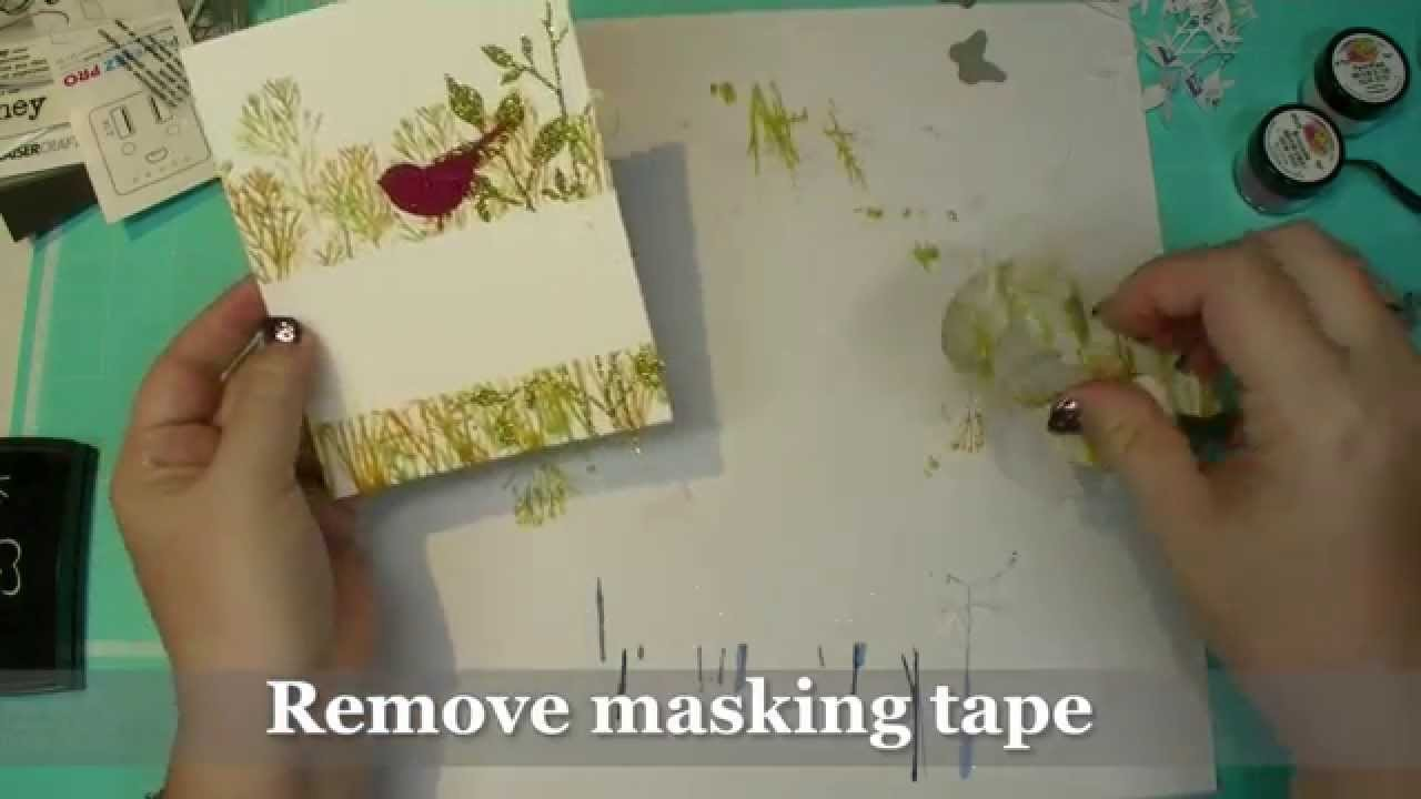 How to Create a Magical Glitter Bird Card using Memory Box Die