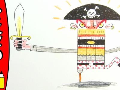 How To Draw A Pirate | Art Ideas For Kids | Øistein Kristiansen