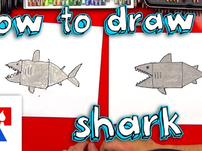 How To Draw A Shark With Shapes (young artists)