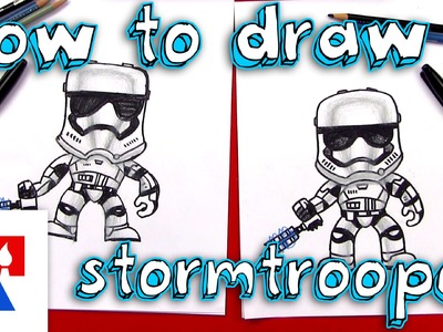 How To Draw A Stormtrooper FN-2199 (Toy Giveaway)