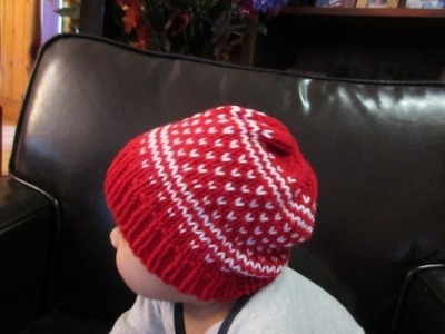 How to knit fair isle baby hat