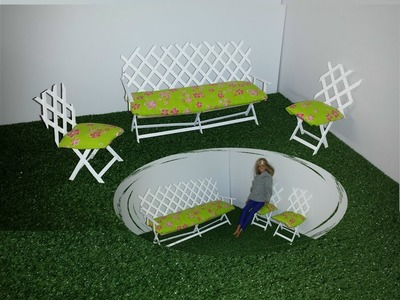 How to make a Doll Garden Bench and Chairs