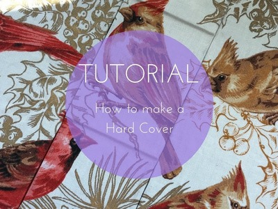 How to make a Hard Cover - fabric covering, spine ledges - Hard Cover Series episode 2