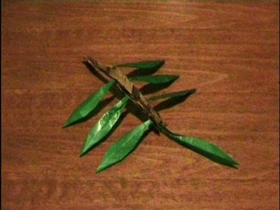 How to make a Modular Origami Olive Branch *original by danbergam* . for all (59)