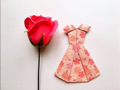 How to make a paper dress - Origami dress - Hướng dẫn gấp váy Origami