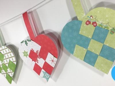 How to make a  Scandinavian woven heart basket | Party banner and Christmas ornament | Flätat hjärta