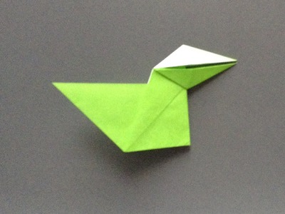 """How to make a talking crow """"origami"""""""