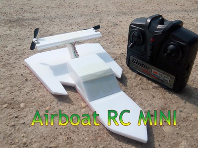 How To Make Airboat RC Mini - version 4
