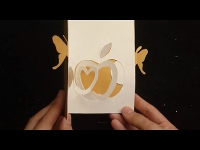 How To Make An Apple Pop Up Card, DYI Tutorial
