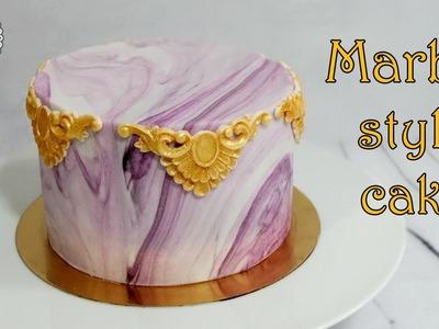 How to make marble style cake. Jak zrobić tort z efektem marmuru