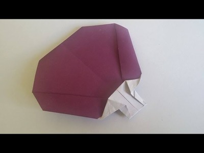How to make origami fan easy