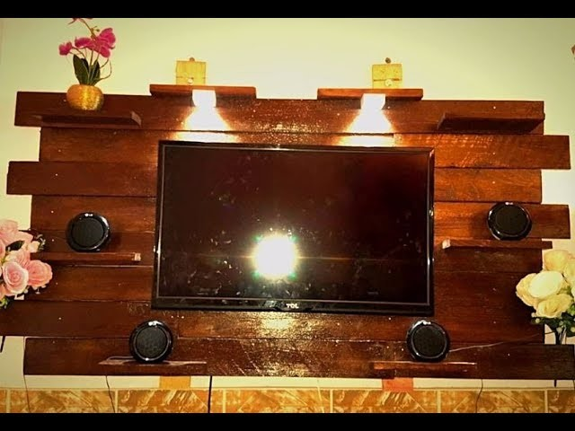 How to make wall mounted TV stand at home