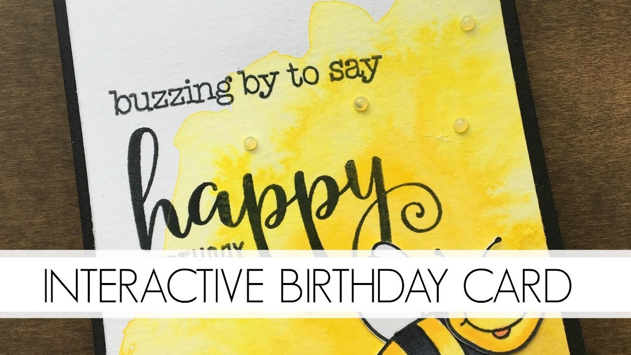 Interactive Build-a-Bee Kid's Birthday Card