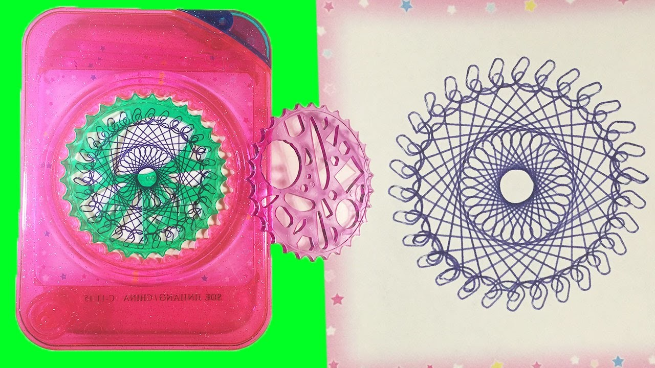 Kids Crazy Fun SPIRAL ART (Spirograph) Travel Drawing Set Fun Toy Video Little Wishes Kids Video
