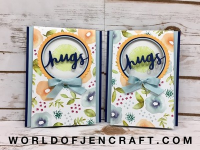 Lovely Inside & Out - Flap Over Fun Fold Card - Stampin Up!
