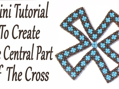 Mini Tutorial: How to create the central part of a Cubic RAW Cross - CRAW Cross with beads