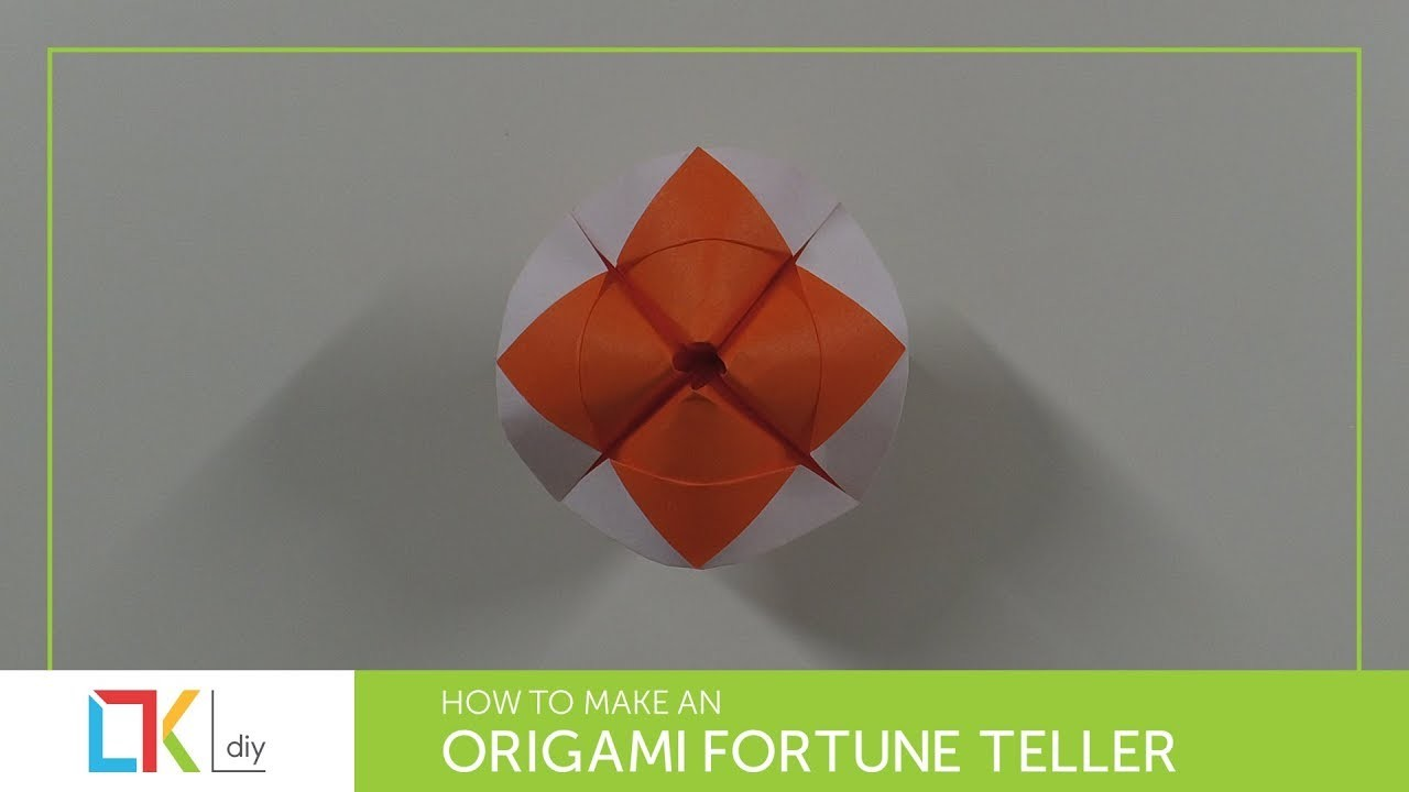 Origami toys #60 - How to make an origami fortune teller II (2 colors)