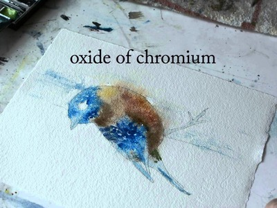 Part 1 - Painting an Eastern Bluebird -Watercolor Demonstration Paint a Bird in Watercolors