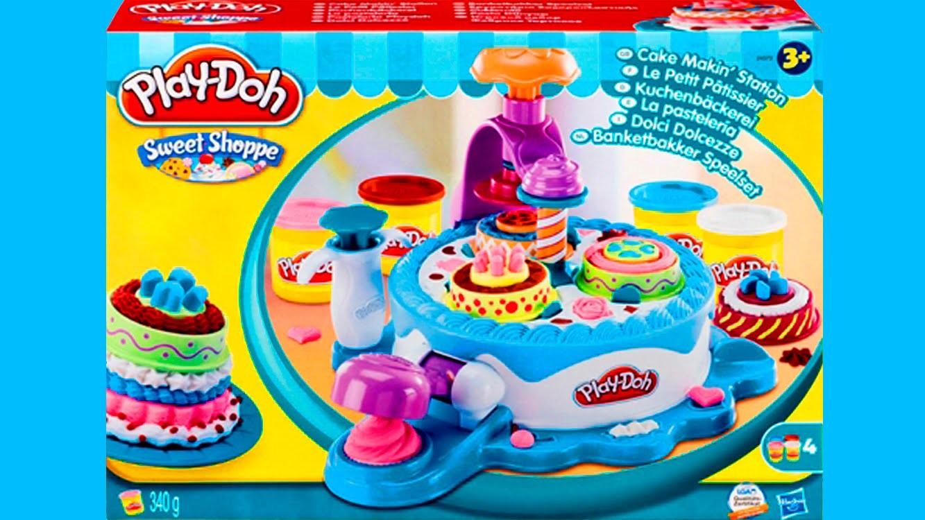 Play Doh Cake Makin' Station Bakery Playset Decorate Cakes Cupcakes Playdough Hasbro Toys